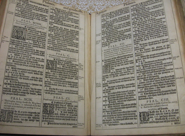 King James Bible 1611 (page spread)