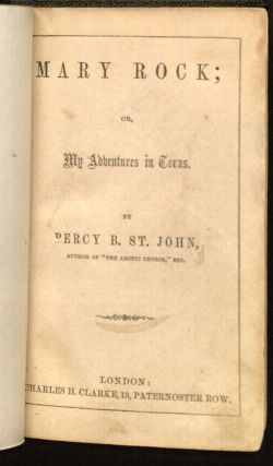Mary Rock Title Page