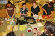 January cooking demo - group cooking