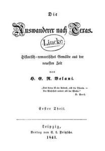 Die Auswanderer nach Texas (1841)