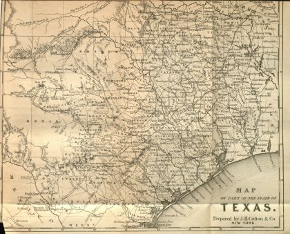 Map from Journey through Texas (1857)