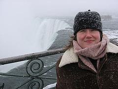Nikki at Niagara Falls