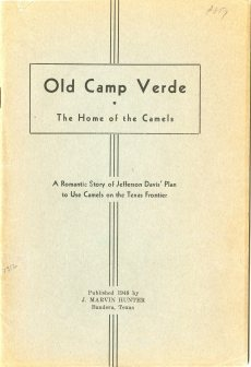 Cover of Old Camp Verde (1948) by J. Marvin Hunter
