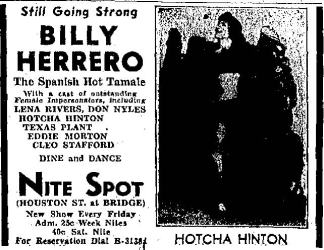 Nite Spot advertisment 1937