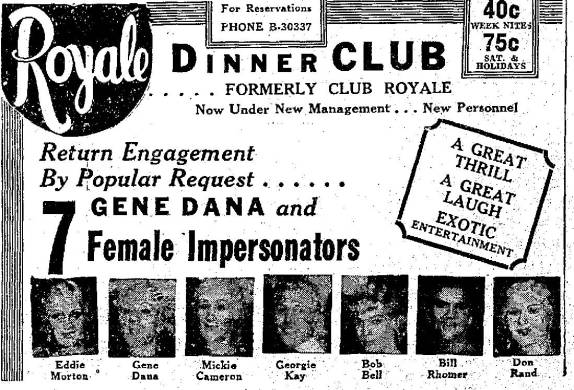 Jun. 22, 1935 Royal Dinner Club