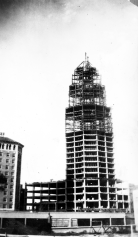 Construction of the Smith-Young Tower (now Tower Life Building), 1928.