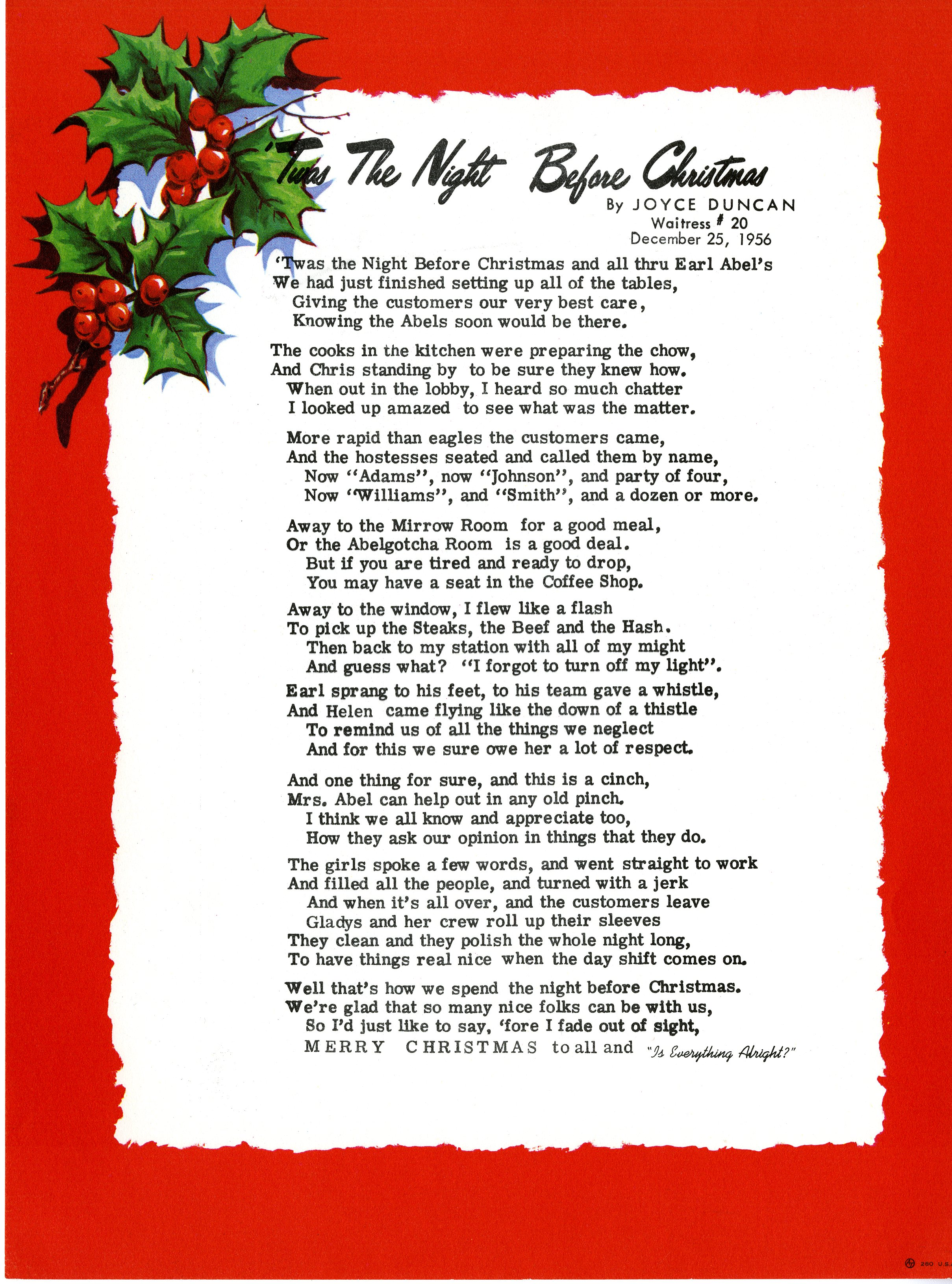 twas the night before christmas parody text