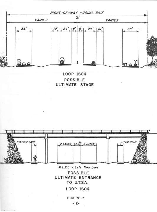 Proposed entrance to UTSA campus off of Loop 1604 Interchange, 1978