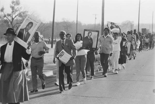 Commemorative Freedom March, January 20, 1986. (E-1986-1-20A-41)