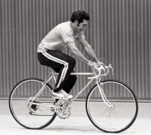 Alberto Rodriguez training for his ride to the church of San Juan, Gil Barrera photographs, MS 27