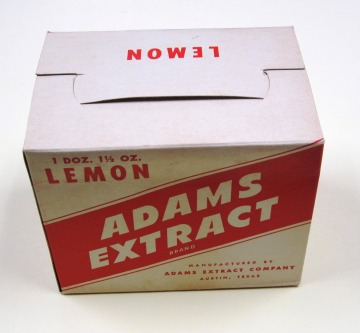 Lemon Extract Box. MS 403 Adams Extract and Spice LLC records. UTSA Libraries Special Collections.