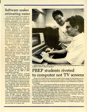 Computer lab at UTSA , Roadrunner, July 4, 1988, UTSA University Publications Collection, UA 1.02