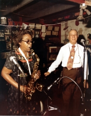 Bert Etta Davis performing with Don Albert looking on