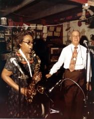 Bert Etta Davis performing with Don Albert looking on