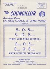 The Councillor newsletter cover, December 1955