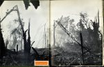 Illustrated endpapers of Peleliu Landing (1945) by Tom Lea. UTSA Libraries Special Collections.