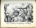 Illustration from Peleliu Landing (1945) by Tom Lea. UTSA Libraries Special Collections.