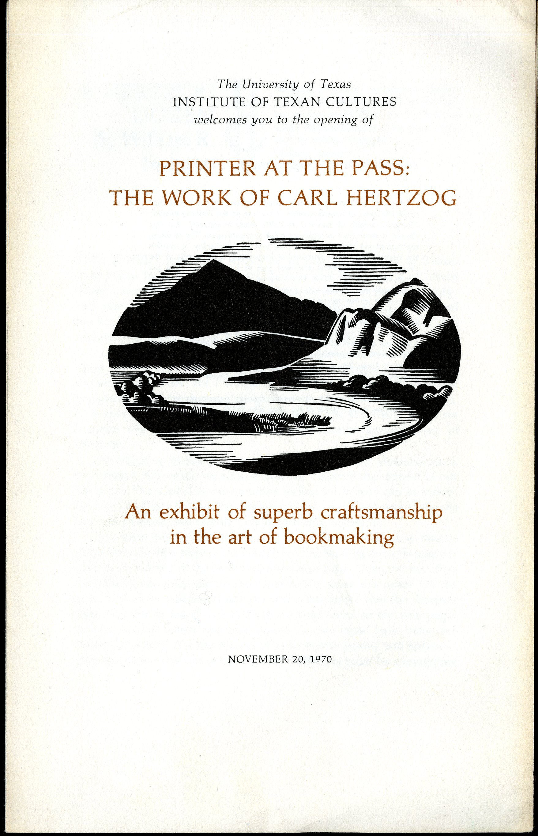 Color printing el paso tx - Printer At The Pass The Work Of Carl Hertzog 1970 Encino Z232