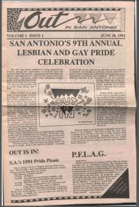 Out in San Antonio, Pride issue 1991
