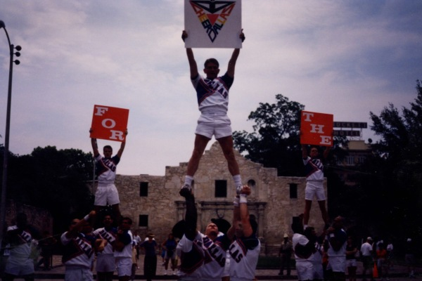 Cheer Dallas at San Antonio Pride Parade, 1998