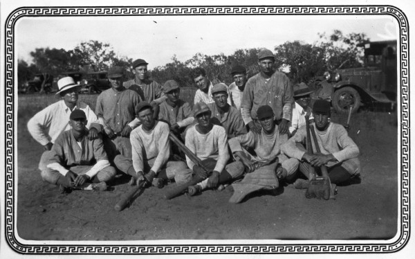 Residents from surrounding area gather for a Sunday afternoon baseball game at Biry, Medina County, c. 1934.  (MS 362:  096-0873)