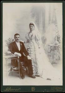 Francisco A. Chapa and Adelaida Rivas wedding portrait