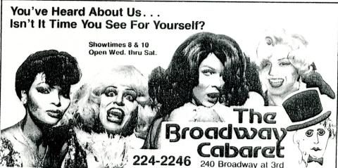 Broadway Cabaret ad, 1983