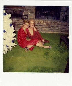Lollie and friend at Christmas, undated