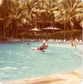 Lollie in Cancun, 1982
