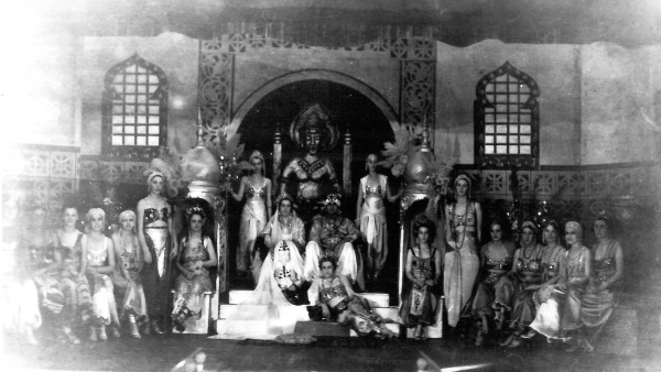 Coronation of Sultan Yekrut and Sultana Oreuc at Cuero Turkey Trot, 1934, General Photograph Collection, MS 362