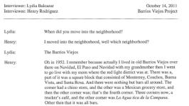 Henry Rodriguez transcript, MS 335
