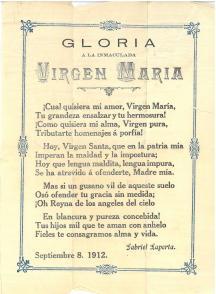 Prayer laid in. Manual de Cocina : Recetas (1905) by María Isla.