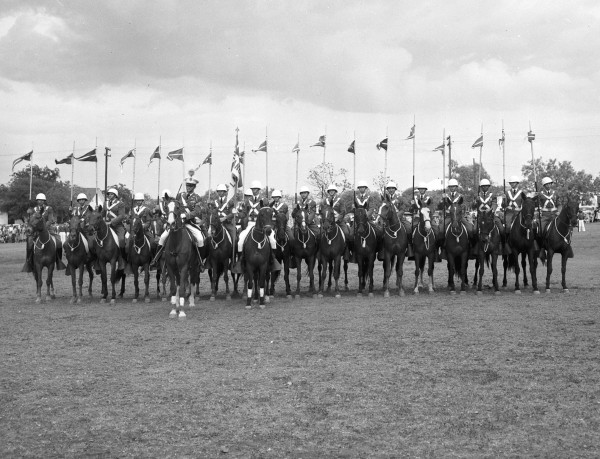 The Peacock Lancers, the academy's cavalry troop.  (MS 359: L-3560-I-4)