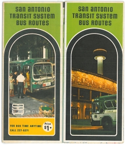 San Antonio Transit System Bus Routes, 1971, MS 424