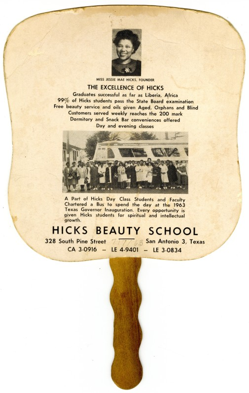 Hick's Beauty School fan, 1963