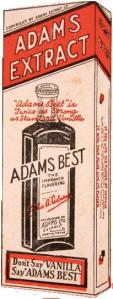 Adams Extract Adams Best Vanilla box, undated