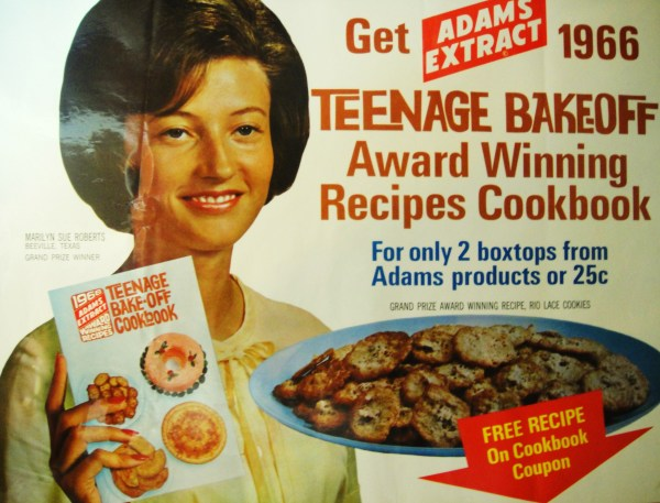 Teenage Bake-off cookbook offer poster, 1966