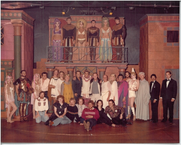 A Funny Thing Happened on the Way to the Forum cast and crew, undated