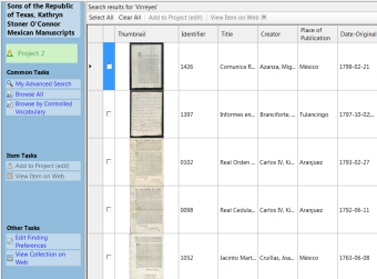 After we digitize, we create basic descriptive information prior to uploading to our digital repository