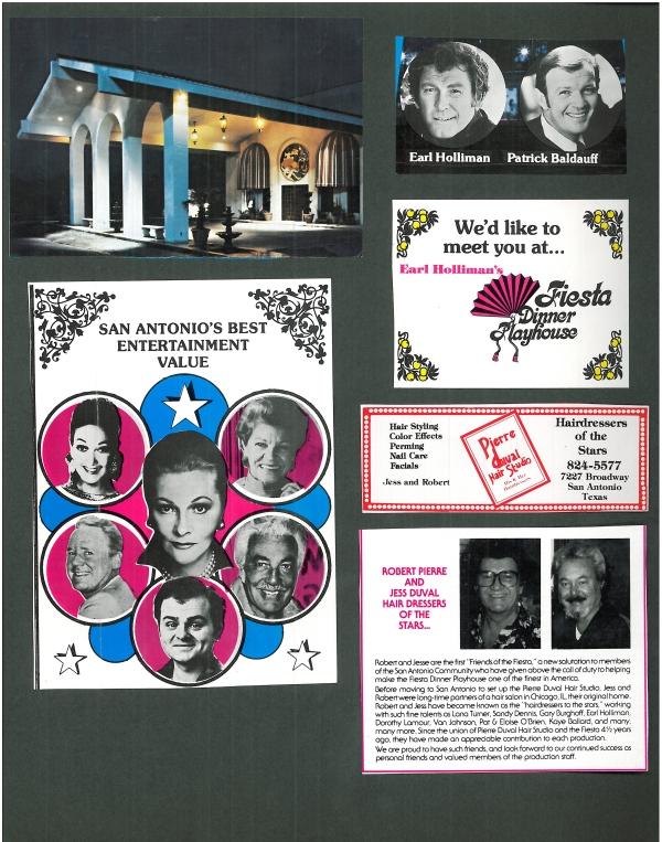 Fiesta Dinner Playhouse program, undated