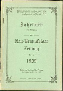 ahrbuch der Neu-Braunfelser Zeitung fuer 1939. UTSA Libraries Special Collections.