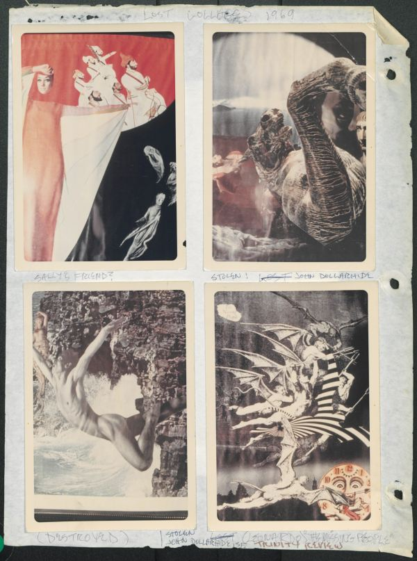 """John Shown """"lost collages 1969"""""""