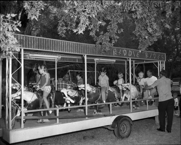Kiddie horse ride, 1966.  (MS 355: Z-1831-09)
