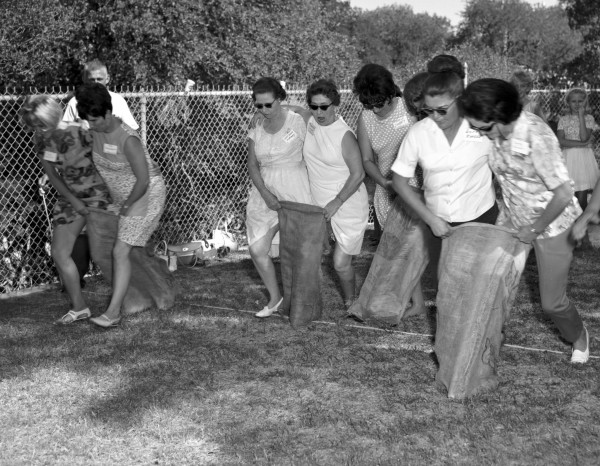 Three-legged race, 1967.  (MS 355: Z-1833-07)