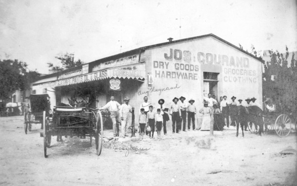 Joseph Courand General Store, Paris and Lorenzo Streets, early 1900s.  (MS 362: 072-0875)