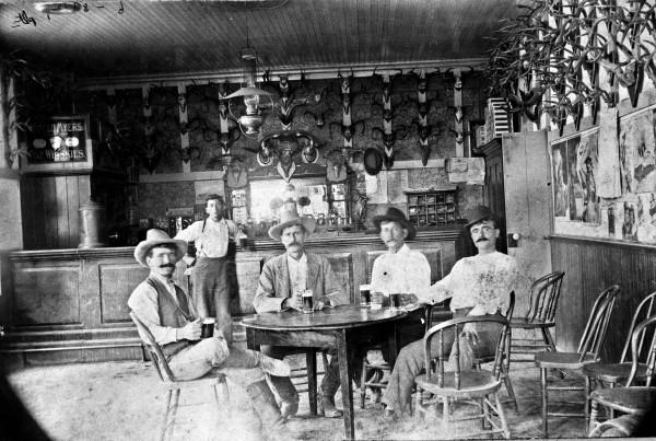 Tondre Saloon, early 1900s.  (MS 362:  077-0046)
