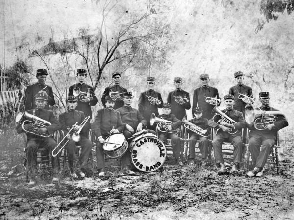 Castroville Brass Band, circa 1915.  (MS 362:  081-0640)