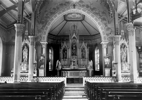 St. Louis Catholic Church, with fresco work by Fred Donecker and son, 1902.  (MS 362:  88-144)