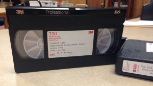 Recruitment videos on VHS cassettes, received from the Office of Admissions, UA 19.03.01.