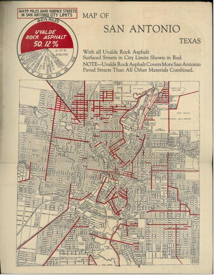 Map. Ten Times Around the World (1923) by Uvalde Rock Asphalt. UTSA Libraries Special Collections.